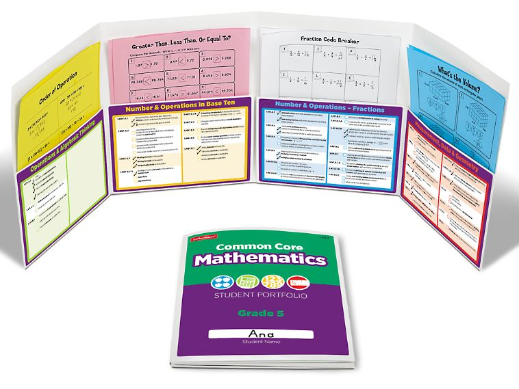 Common Core Math Student Portfolio - Gr. 5 - Each
