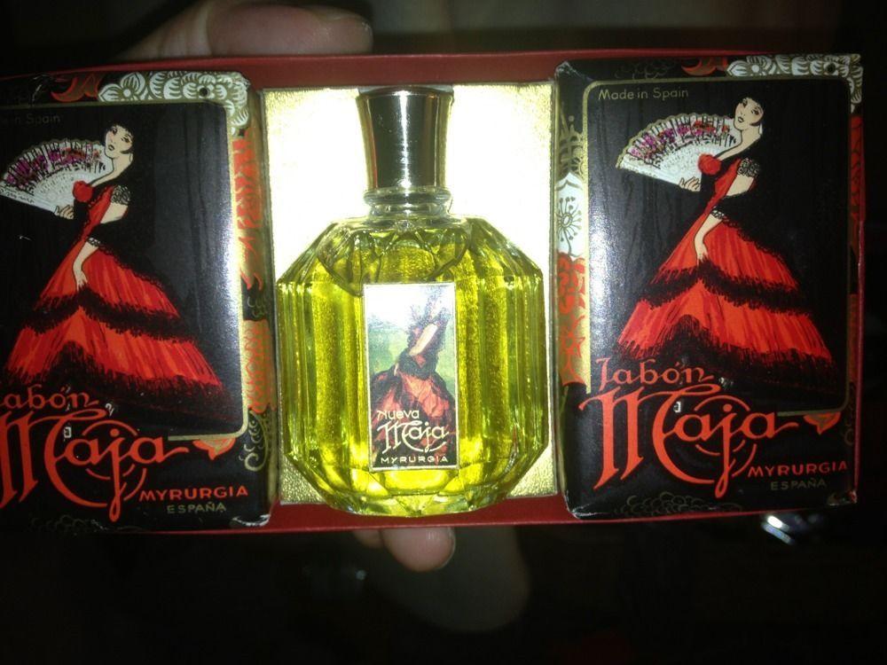 Vtg Maja Myrugia Jabon 3 Pcs Set 2 Soap Bars + Perfume Bottle Free Shipping #Myrurgia