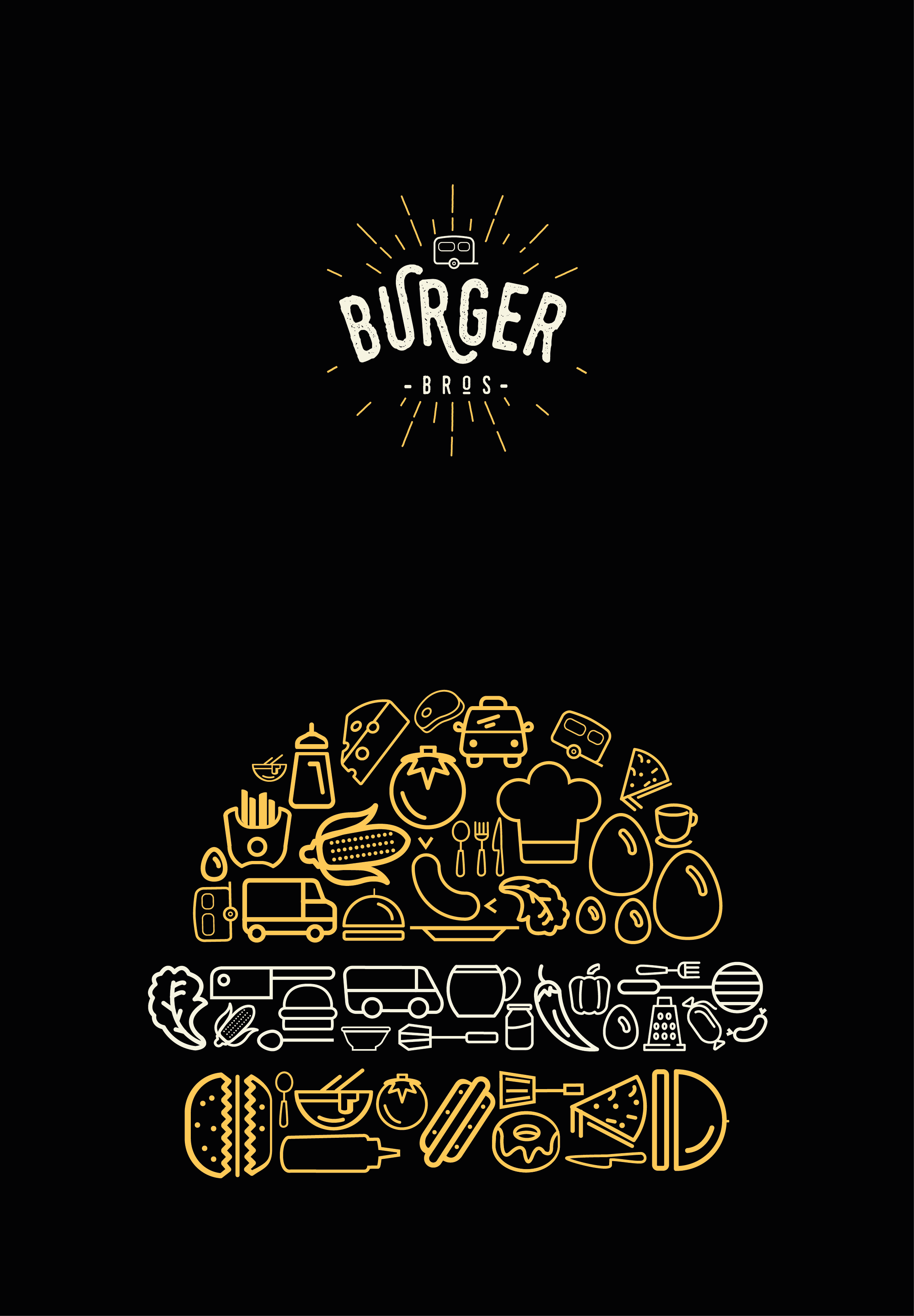 Pinterest el cat 225 logo global de ideas - Burger Bro S Food Truck Are Touring The Uk And Need A New Look For Their Logo