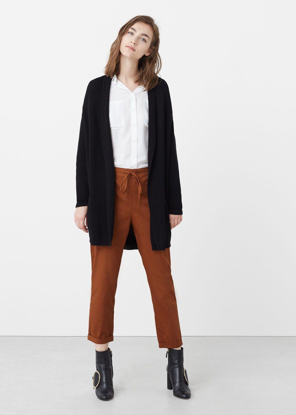 Lastikli Koton Hirka Kadin Cotton Cardigan Cardigan Clothes