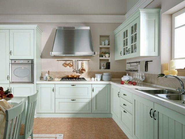 deco cuisine bois et bleu. Black Bedroom Furniture Sets. Home Design Ideas