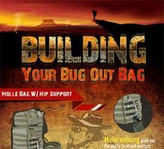 Infographic:  Building your bug out bag checklist.