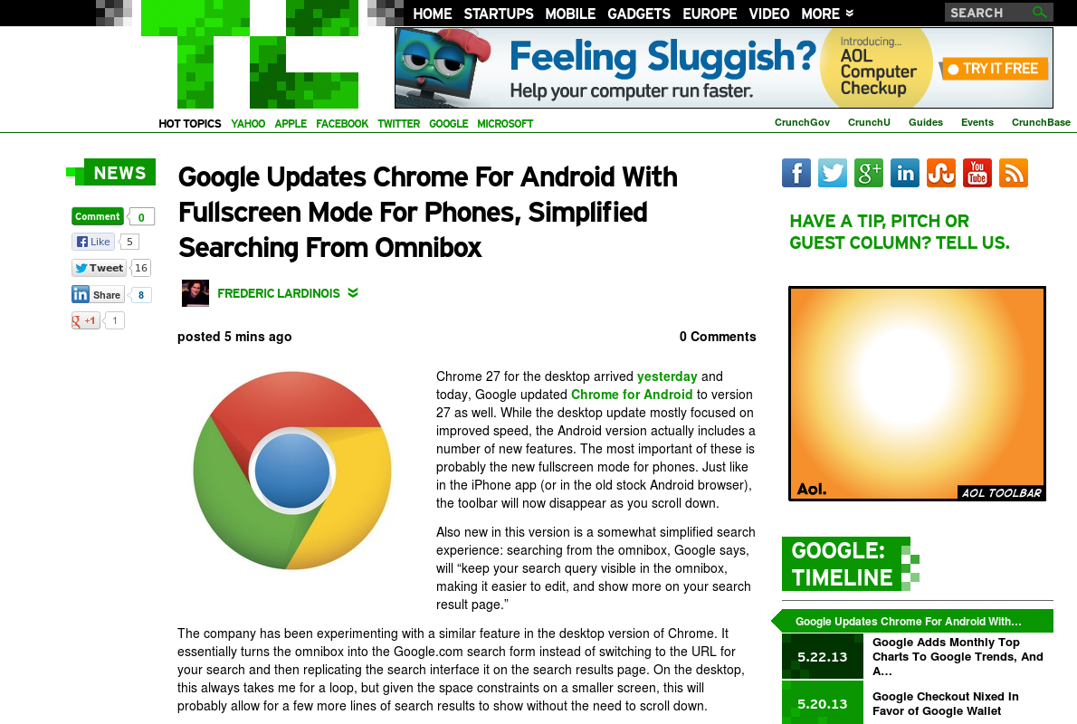 http://techcrunch.com/2013/05/22/google-updates-chrome-for-android-with-fullscreen-mode-for-phones-simplified-searching-from-omnibox/ ... | #Indiegogo #fundraising http://igg.me/at/tn5/
