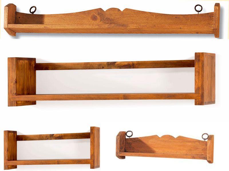Estanterias Rusticas En Diferentes Modelos Y Formatos Estanterias - Estanterias-rusticas-de-madera
