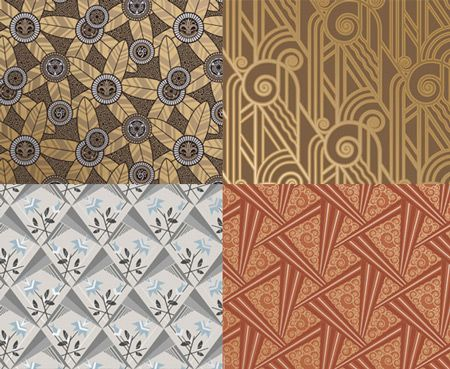 papiers peints art d co bradbury bradbury textiles wallcoverings patterns pinterest. Black Bedroom Furniture Sets. Home Design Ideas