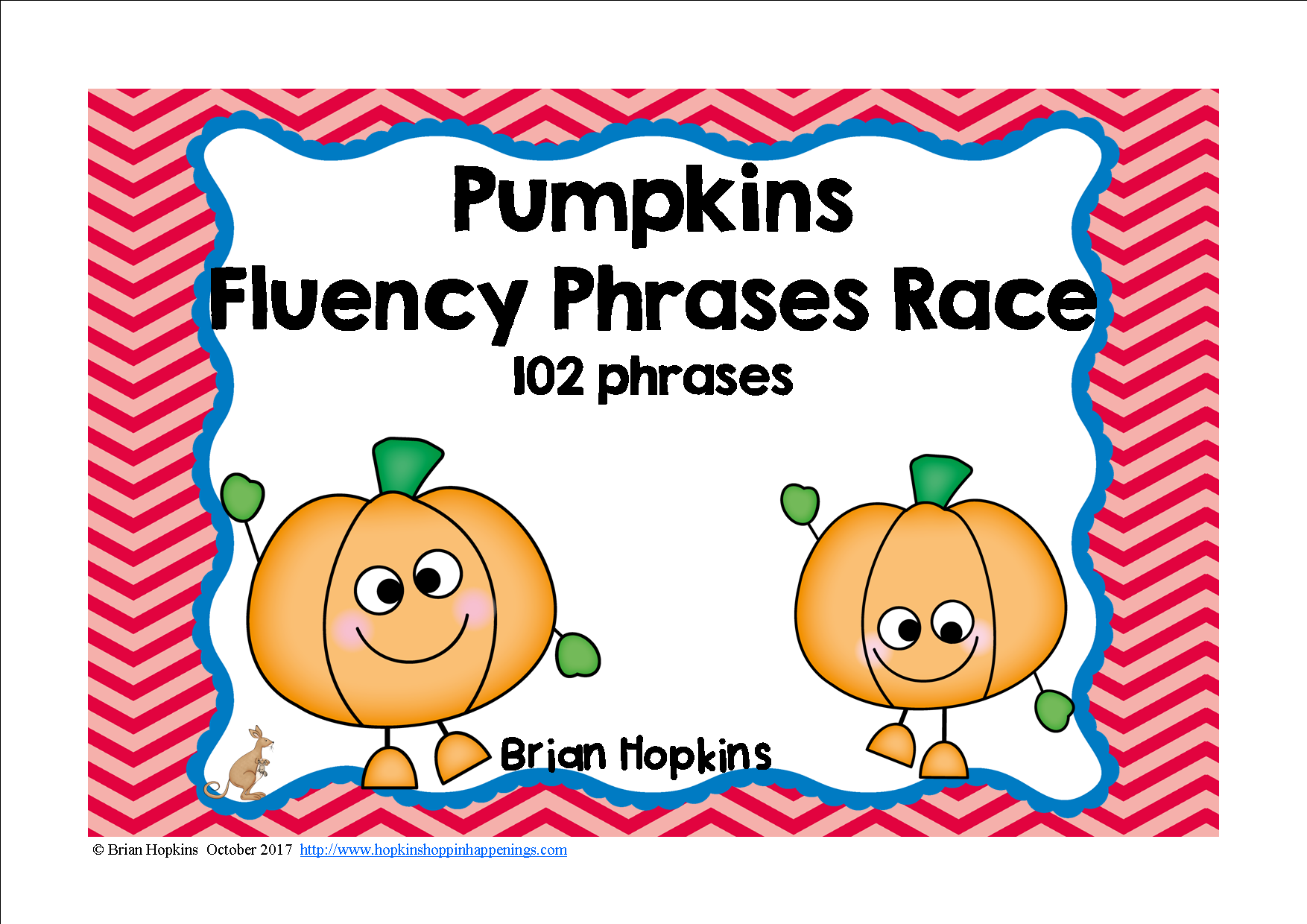 Pumpkins sight word fluency phrases race students literacy and