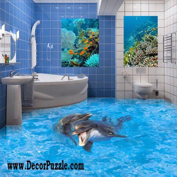 3d Floor Art And Self Leveling Floor,3d Bathroom Floor Ideas For Kids The  Best Catalog For 3d Floor Art Murals 2018, Self Leveling 3d Flooring For  Modern ...