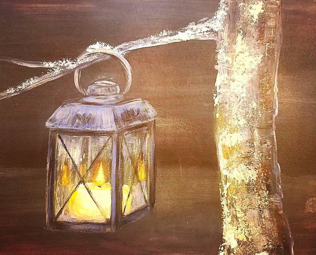 Glowing Lantern Candle Acrylic Painting Tutorial tonight ...