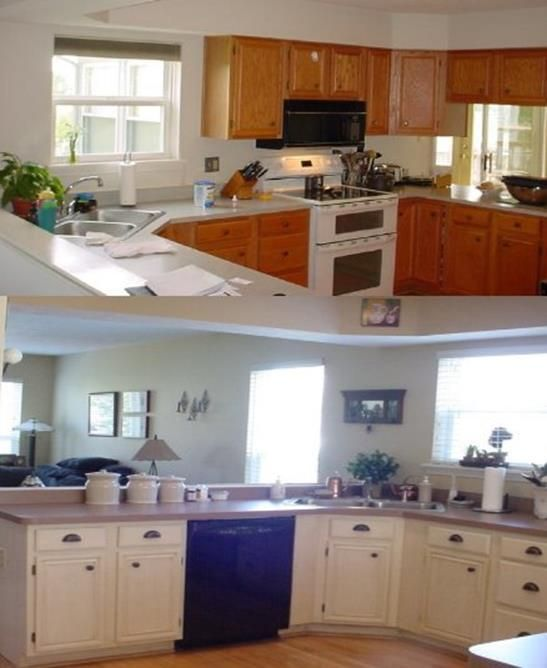 39 Perfect Painted Kitchen Cabinets Before And After BeforeAfter