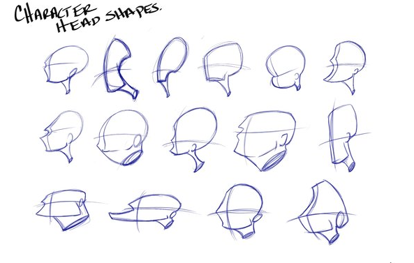Pin On Shapes Character Body Types Heads