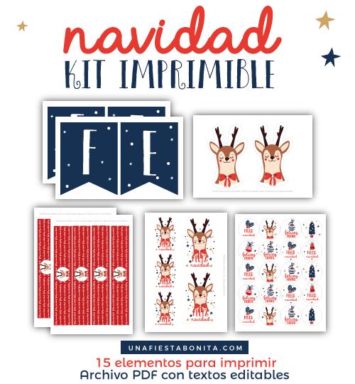 Kit imprimible navidad | Kit imprimible, Navidad y Fiestas