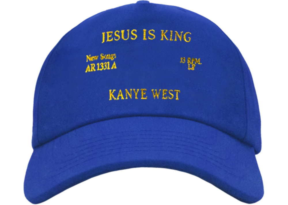 Kanye West Jesus Is King Vinyl I Hat Blue In 2020 Kanye West Kanye La Outfits