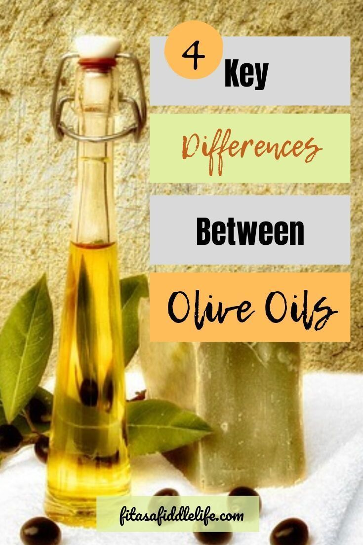 what is the difference in olive oil types