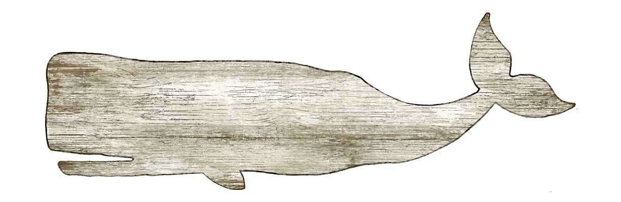 Large White Whale Wall Decor Art Wall Beach Signs Wooden Whale