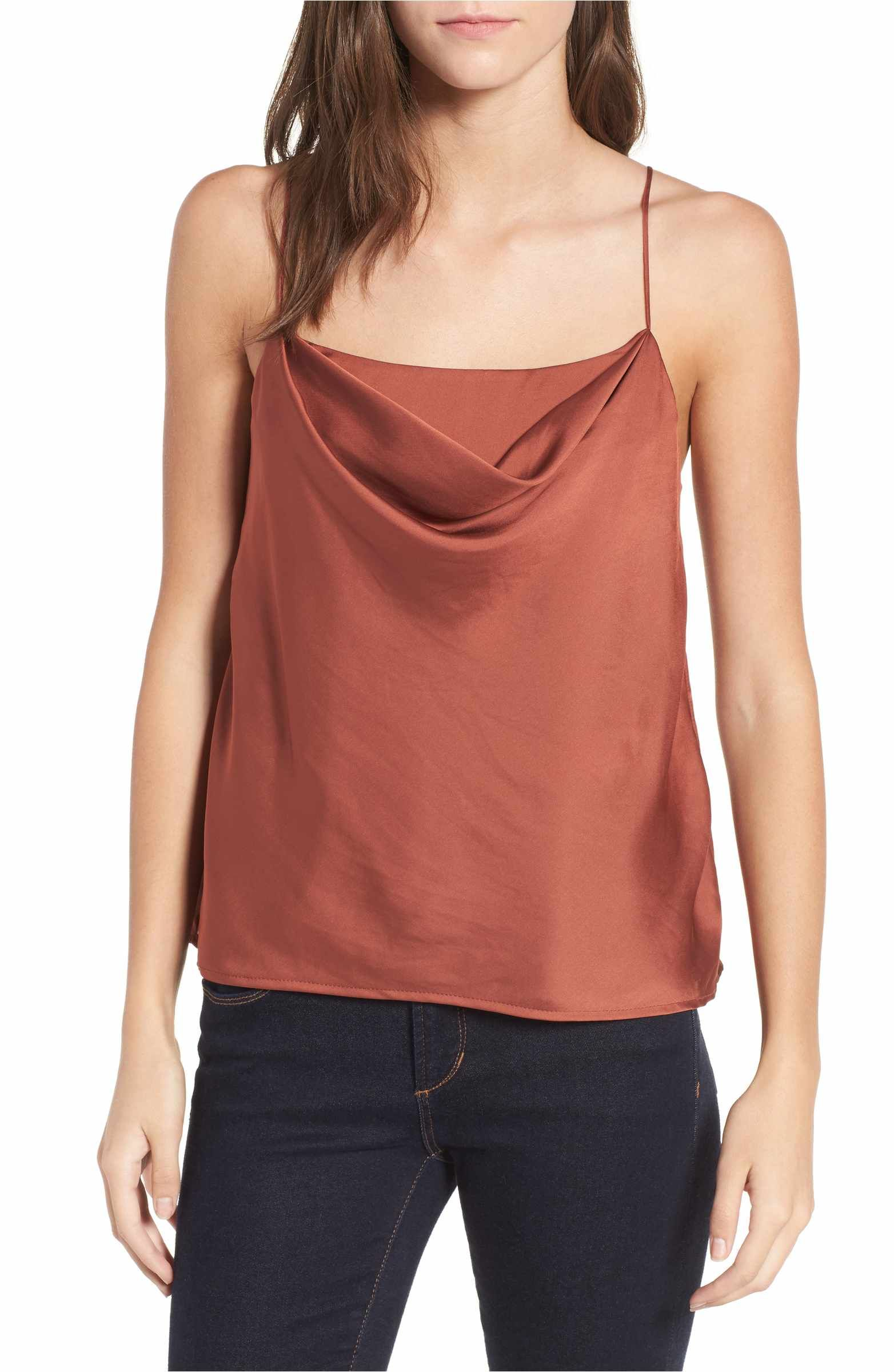 4e3208c7a9 ASTR the Label Cowl Neck Tank rust cami $45 | Nordstrom | Spring ...