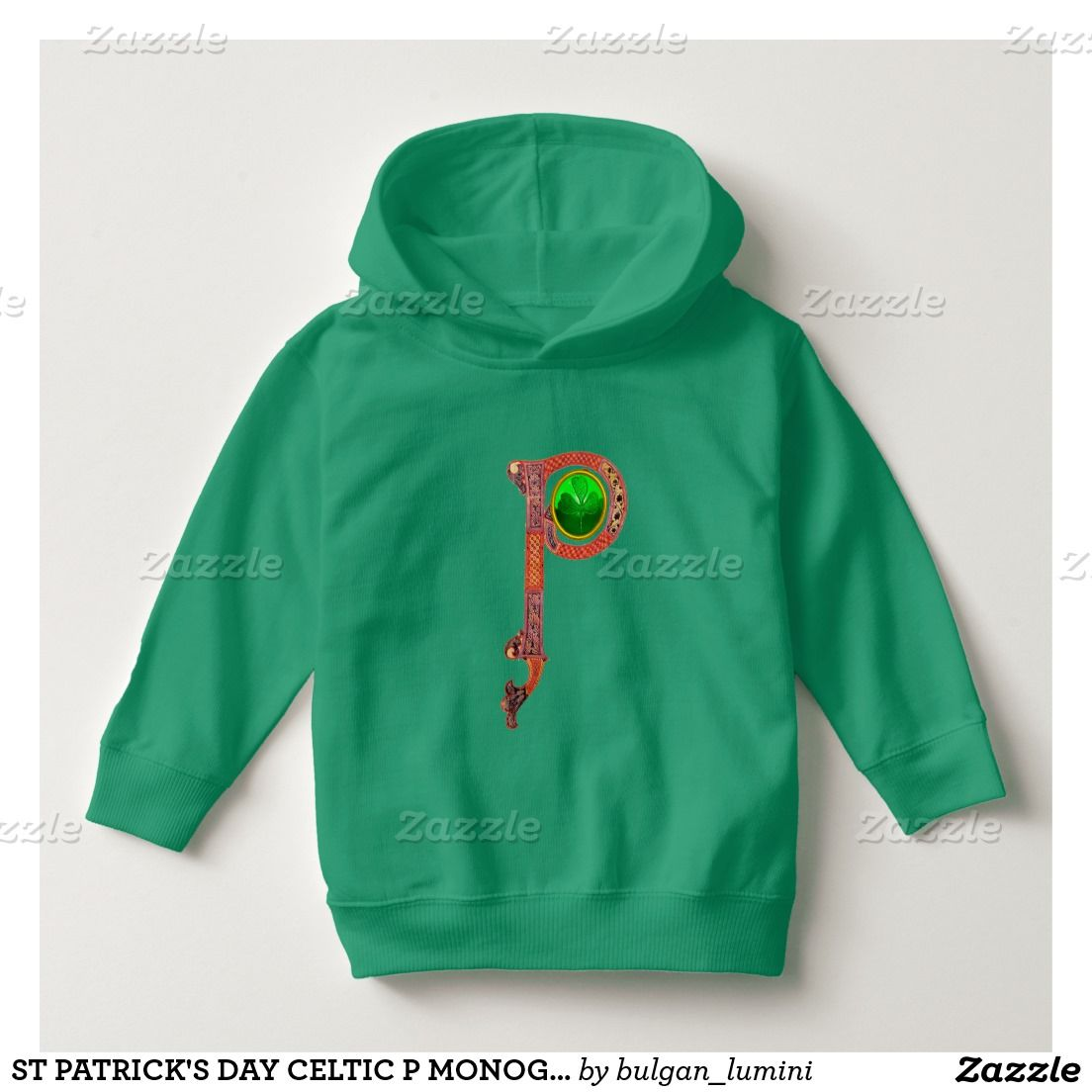 96bd18b0f956 ST PATRICK S DAY CELTIC P MONOGRAM WITH SHAMROCK HOODIE
