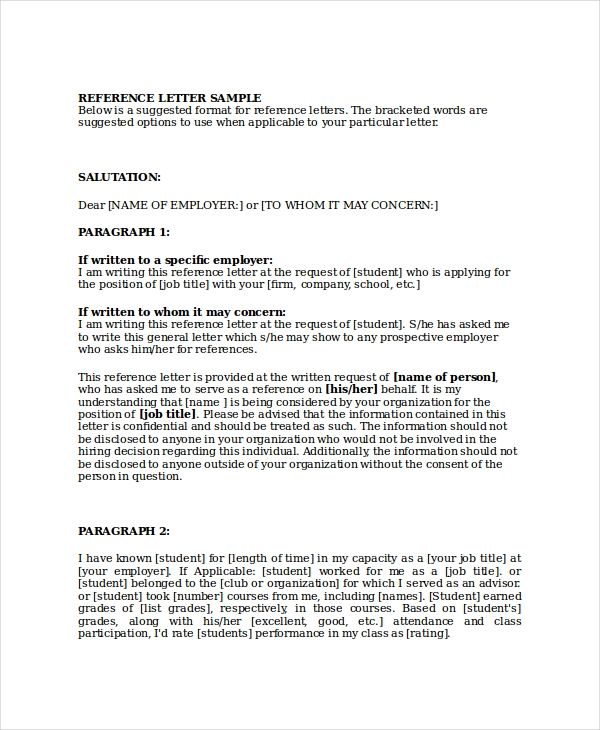 sample business reference letter format download free documents pdf - academic recommendation letter