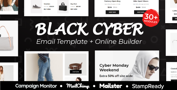 Blackcyber Black Friday Cyber Monday Responsive Email Template