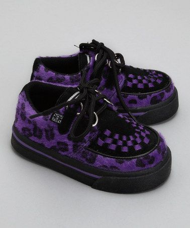 creepers for kids? in purple leopard print!