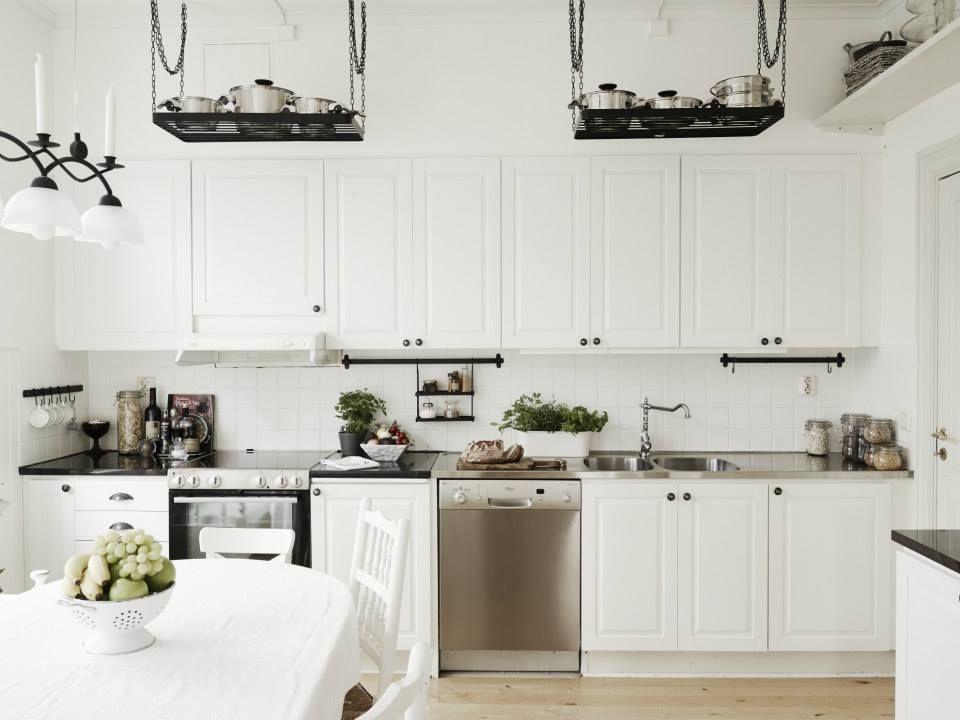 Kuchnia Biała Fronty Frezowane Kuchnia Kitchen