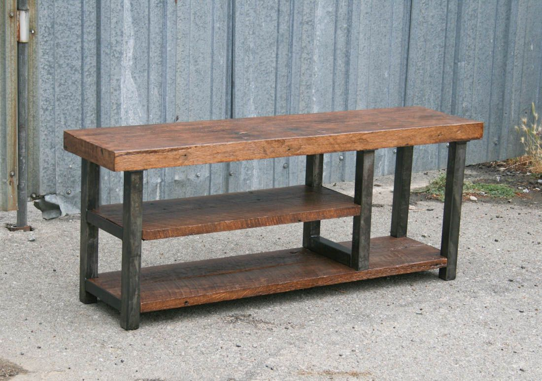 Products Industrial Bench Reclaimed Wood Benches Rustic Bench