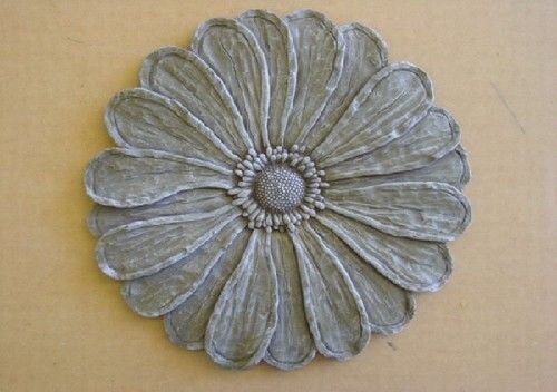Flower Stepping Stone Plaster or Concrete Mold 1142   Moldcreations
