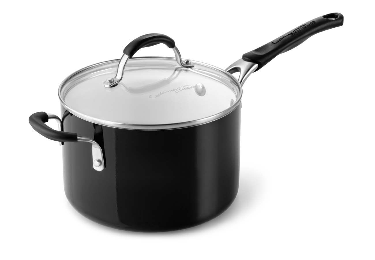 Calphalon Ceramic Nonstick Cookware Sauce Pan 4 Qt Black You Can Find More Details By Visiting The Image Li Ceramic Nonstick Cookware Saucepan Calphalon