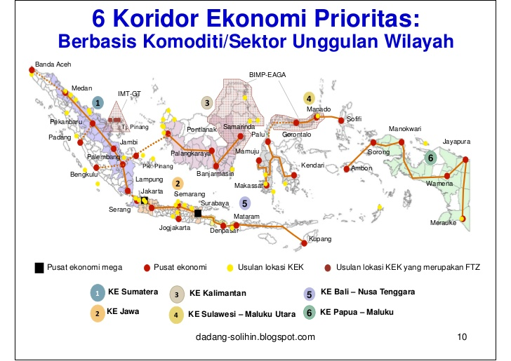 Blue Print Pembangunan Ekonomi Provinsi Lampung Dalam Perspektif Nasi Bengkulu Palembang Lampung