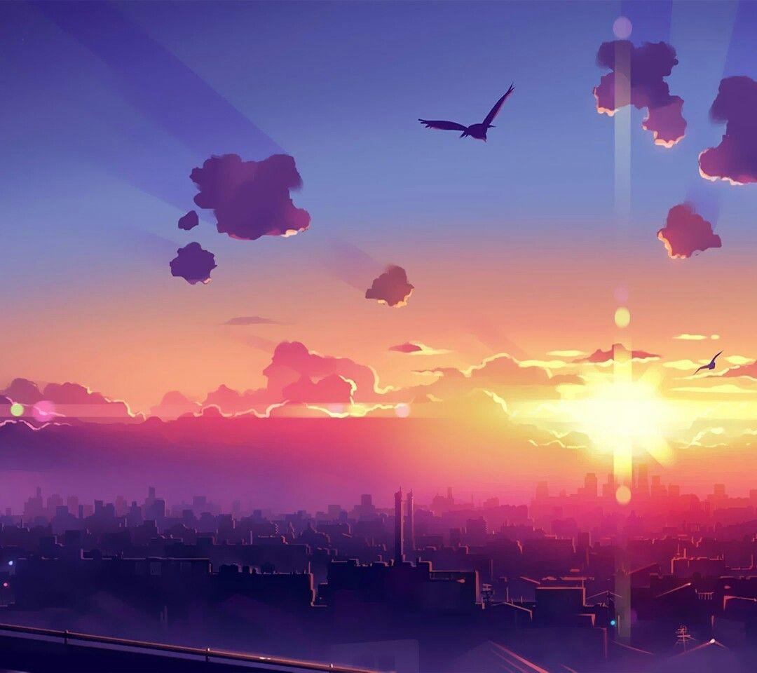 Dessins coucher de soleil art paysage paysage - Dessin coucher de soleil ...