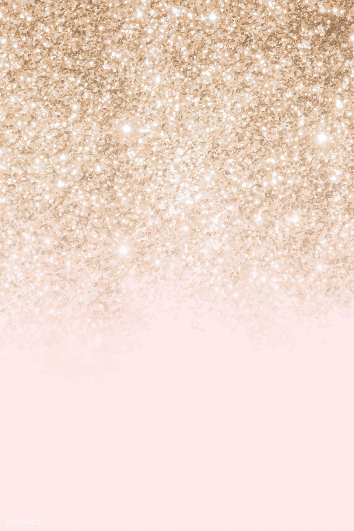Download premium vector of Pink and gold glittery pattern background