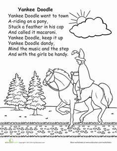 Yankee Doodle Preschool Songs Kindergarten Music Elementary Music