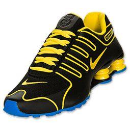 nike shox yellow and black