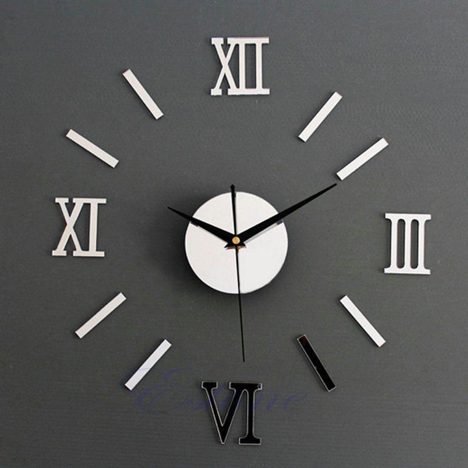 modern diy interior roman wall clock wall clock 3d sticker home