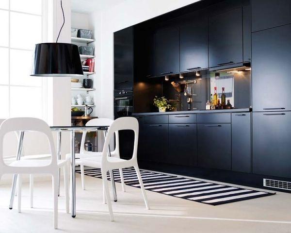 Schlicht, aber schick - Küchen in schwarz und weiß Küchen - ikea kuche schwarz weiss