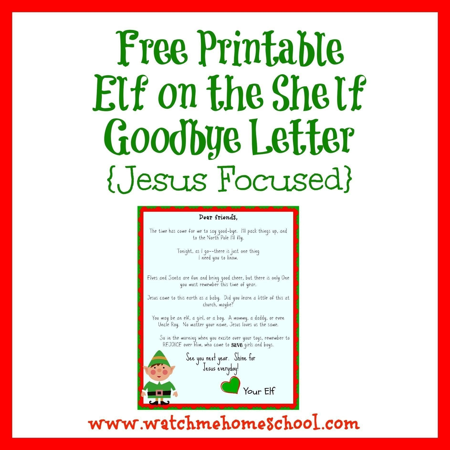 Elf On The Shelf Letter Template Download Word Document in