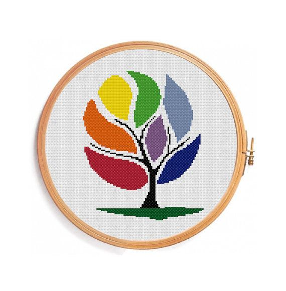 Wish Tree - Cross stitch pattern - instant download pattern | Punto ...