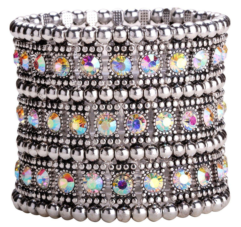 Loveangel Jewellery Women's Crystal Stretch Bracelets yPMpt