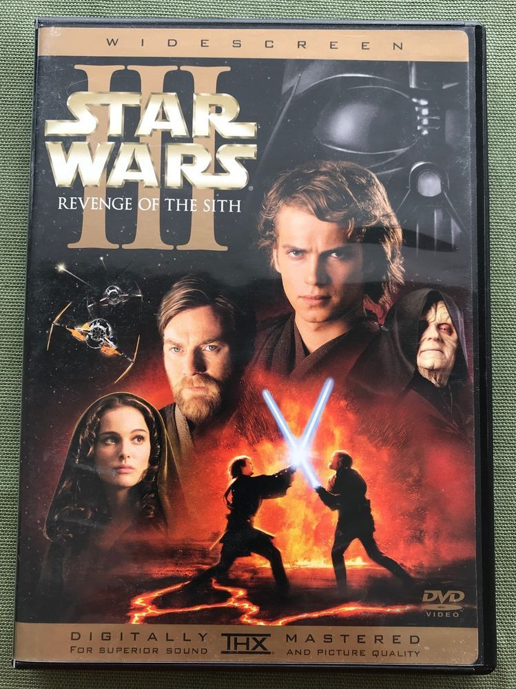 Star Wars Episode Iii Revenge Of The Sith Dvd 2005 2 Disc Set Thx Complete Lucasfilms Star Wars Watch Star War Episode 3 Star Wars Episodes