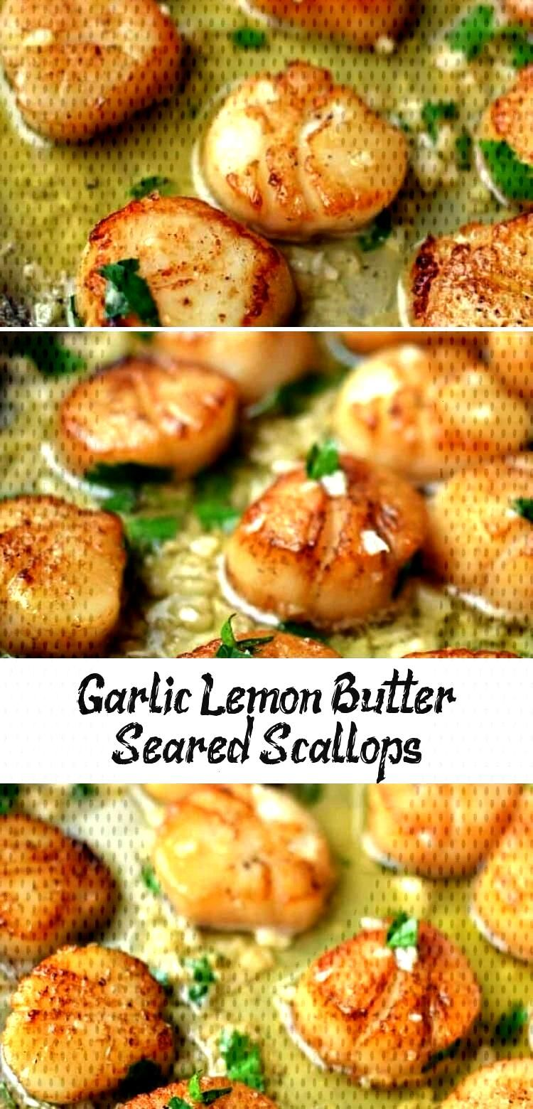 Garlic Lemon Butter Seared Scallops - Kaylas Blog - Recipes -