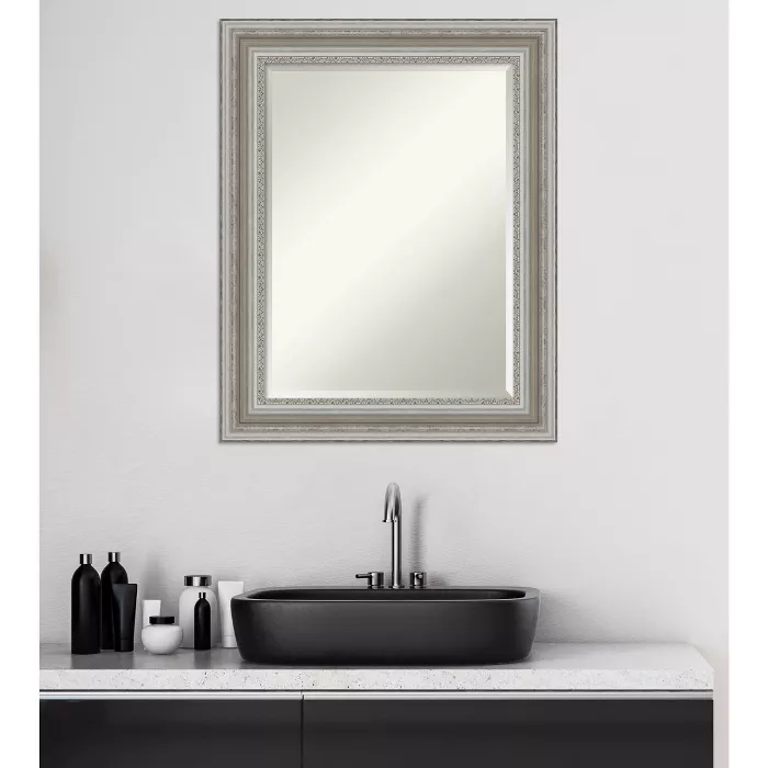 "24"" x 30"" Parlor Silver Framed Bathroom Vanity Wall Mirror ..."