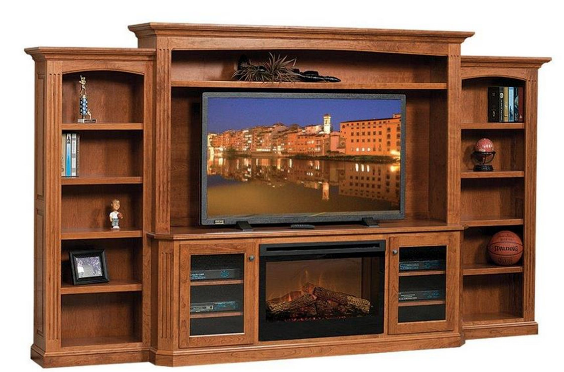 Amish Buckingham Entertainment Center with Electric