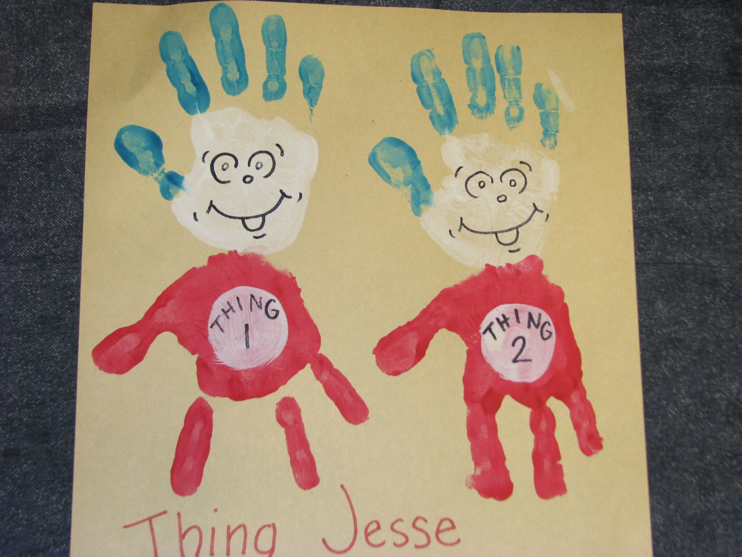 Thing 1 Amp Thing 2 Dr Seuss Week Read Across America