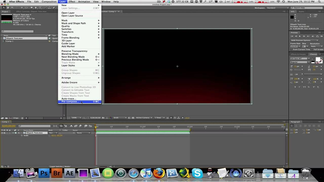 How To Speed Up or Slow Down Video Clips In After Effects CS4 ...