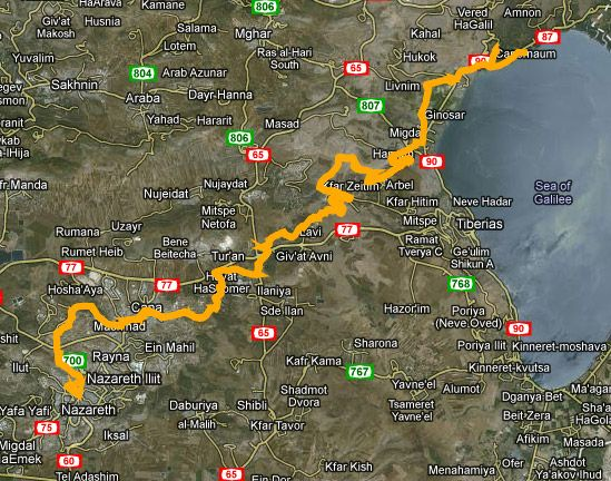 jesus trail maps 01 | Jesus Trail | Trail maps, Holy land ...