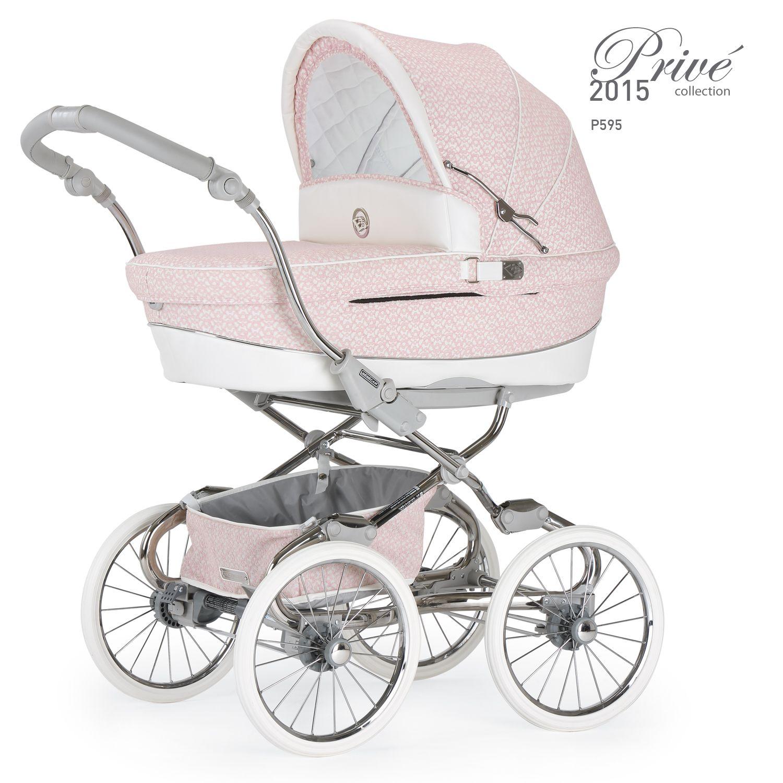 Mädchen Babywagen in Pink Bébécar Kinderwagen Stylo Class