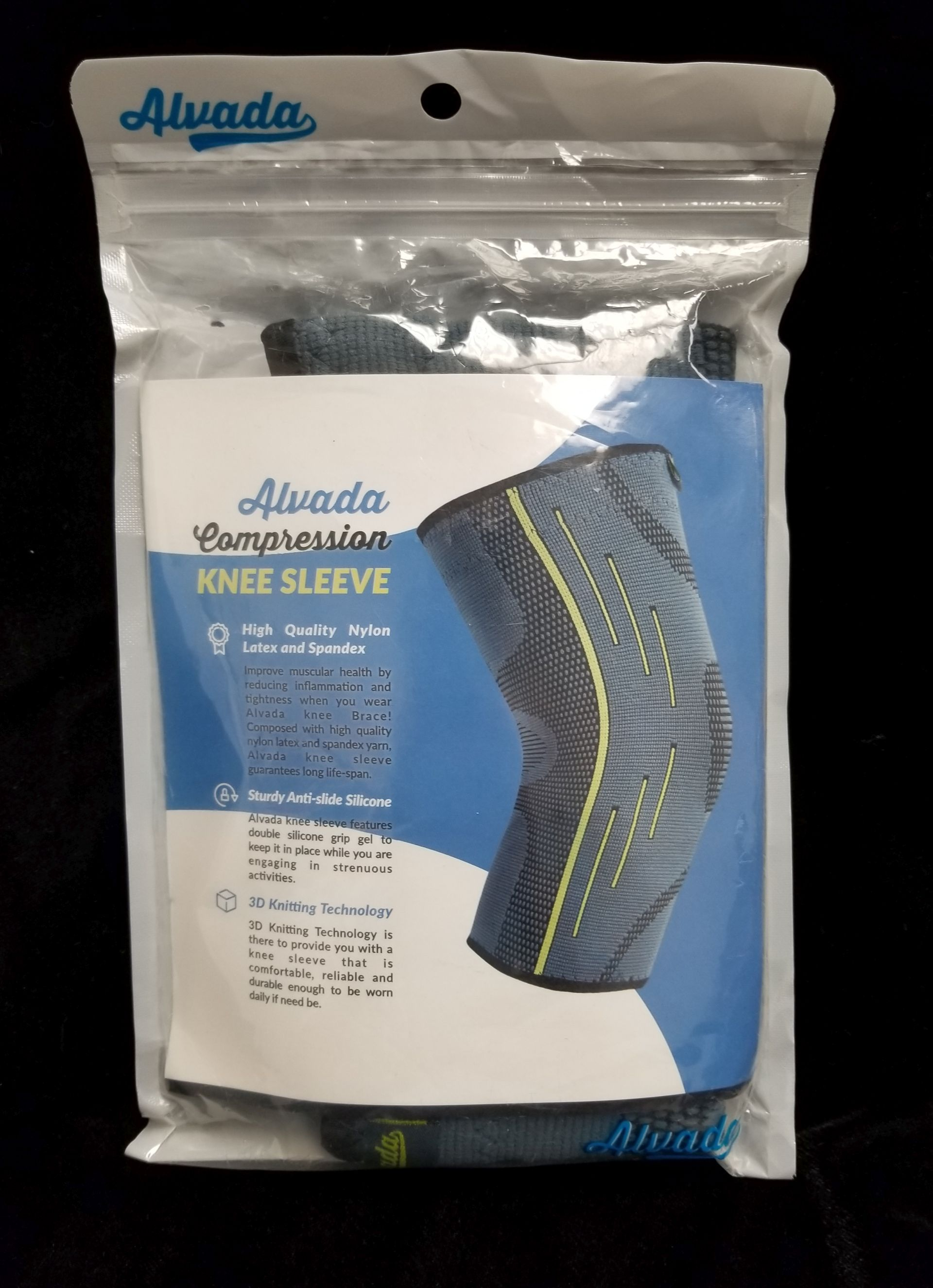 c92caeca138c4 ALVADA ~ Compression Knee Sleeve Large ~ Support for Arthritis