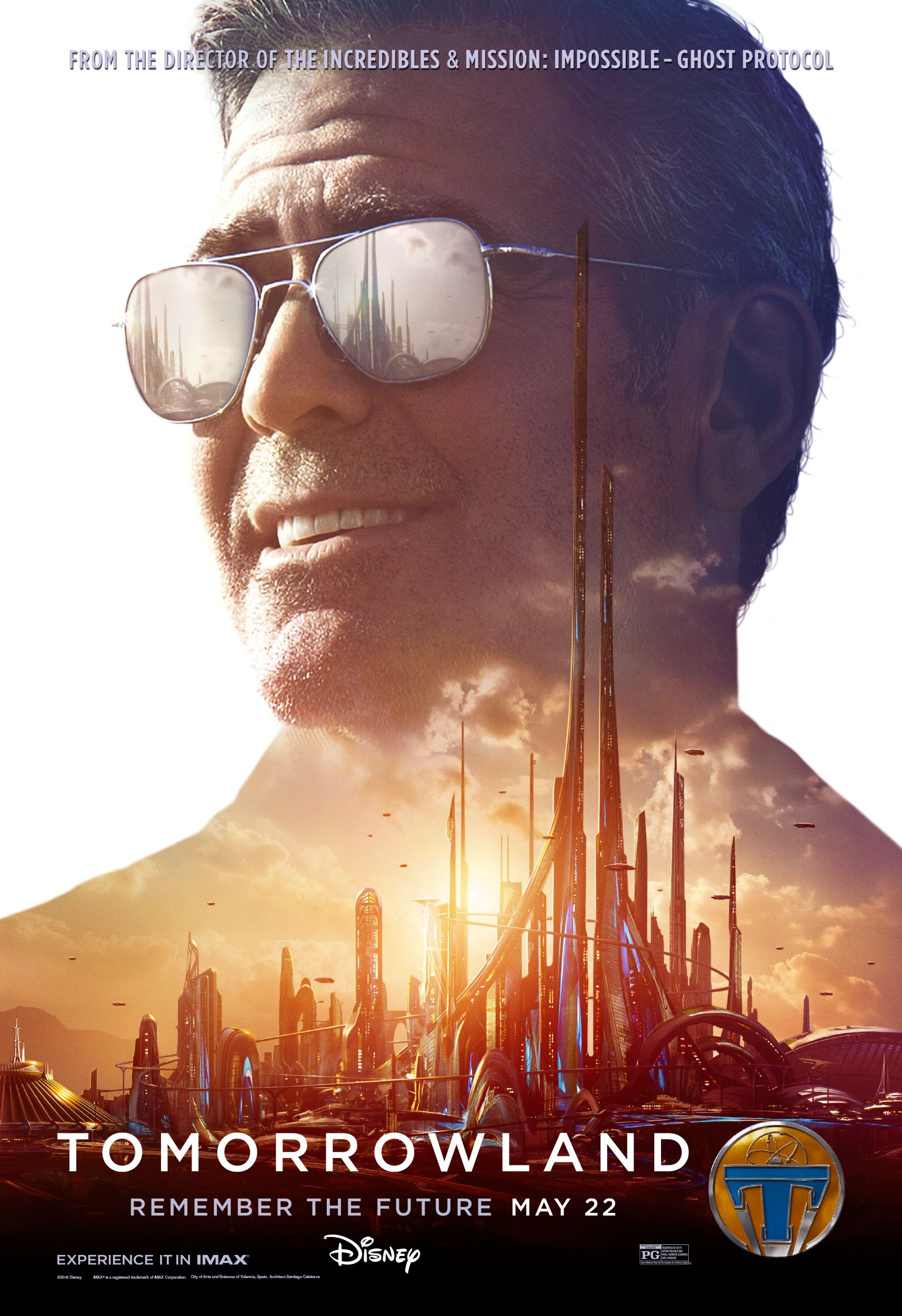 Tomorrowland Character One Sheets Imax Poster Remember The Future Tomorrowland Movie Tomorrowland George Clooney