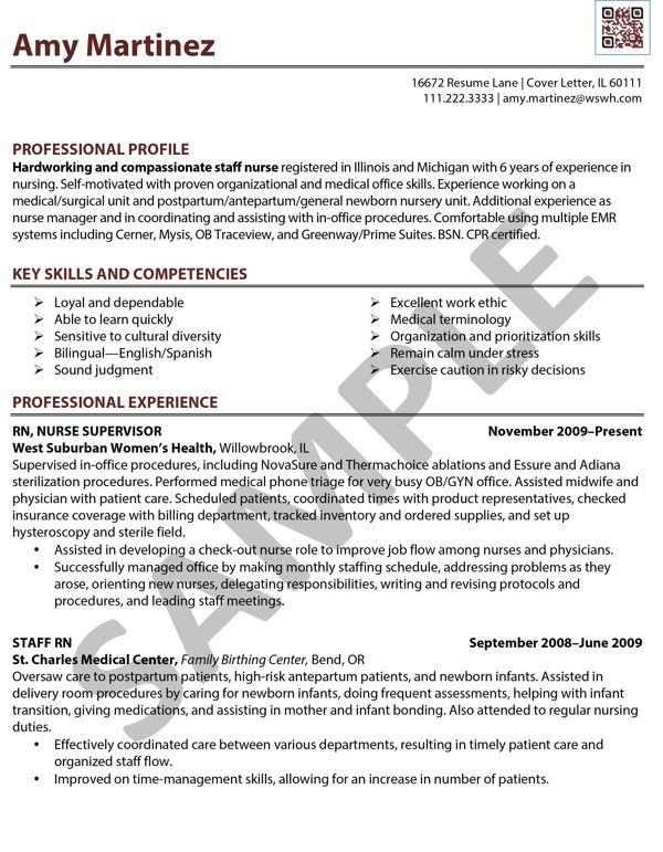 Sample Resume RN (Registered Nurse) done by Café Edit