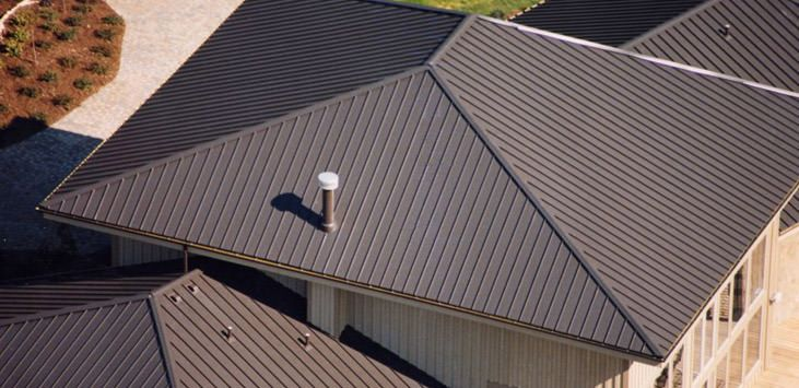 Clicklock Standing Seam Classic Metal Roofing Systems Metal Roof Standing Seam Standing Seam Metal Roof