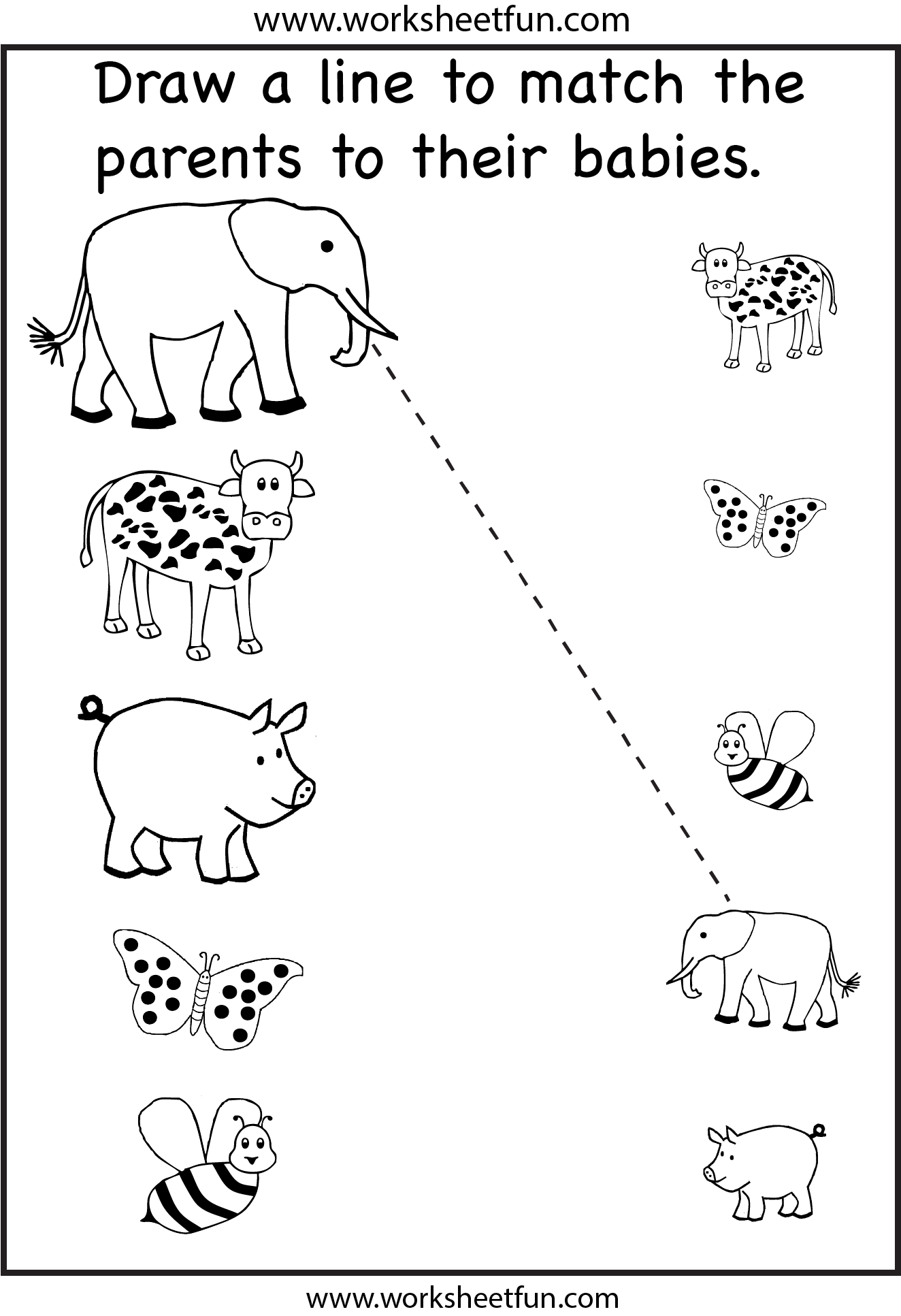 Preschool Matching Worksheet Teaching Free Kindergarten